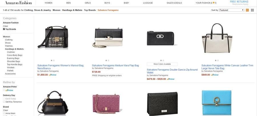 amazon.com designer purses for less