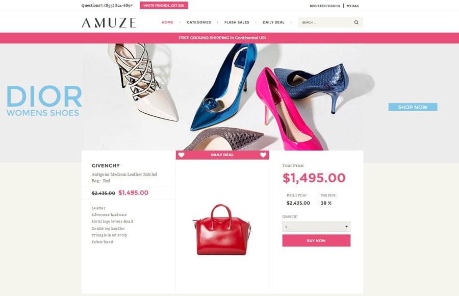 Buy designer handbags for less at amuze.com