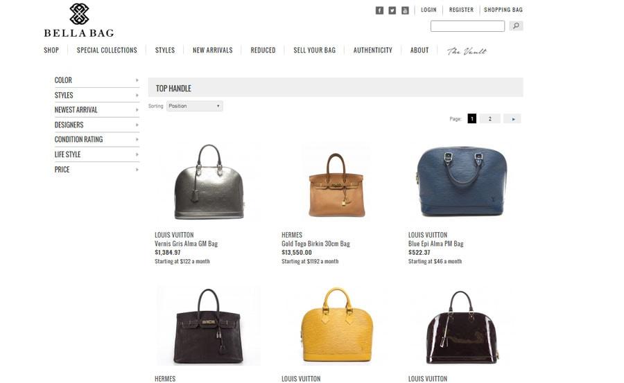 buy your next designer purse at Bella Bag