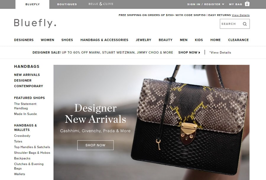 Shop Bluefly for online, designer purse deals!