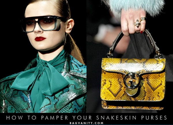tips to repair your snakeskin and python handbags