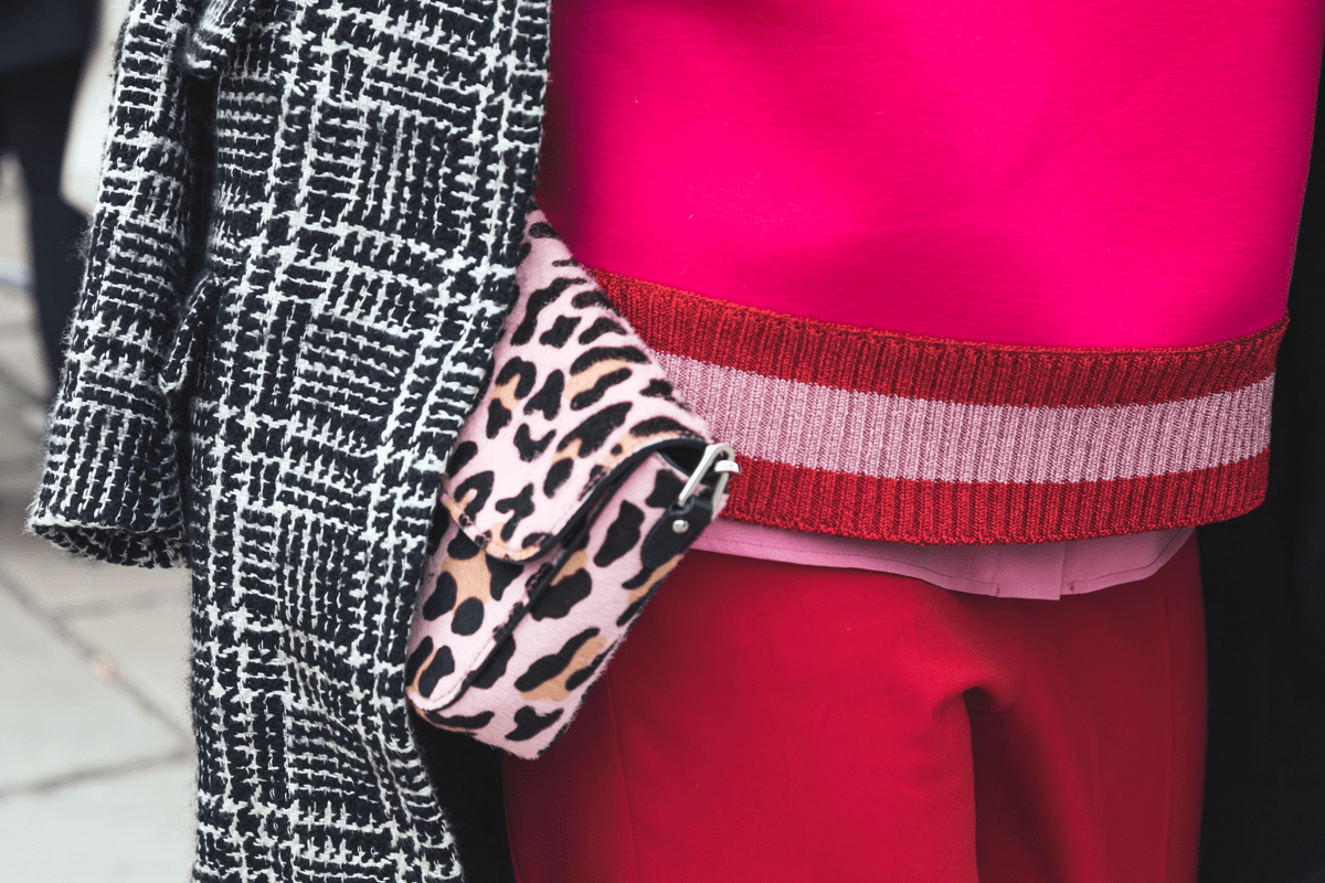 animal print clutch purse