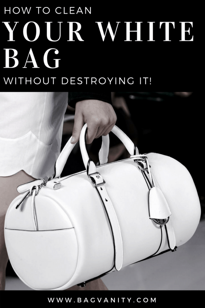 how to clean a white purse or handbag