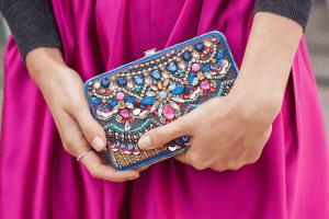 jewel toned handbag and outfit ideas