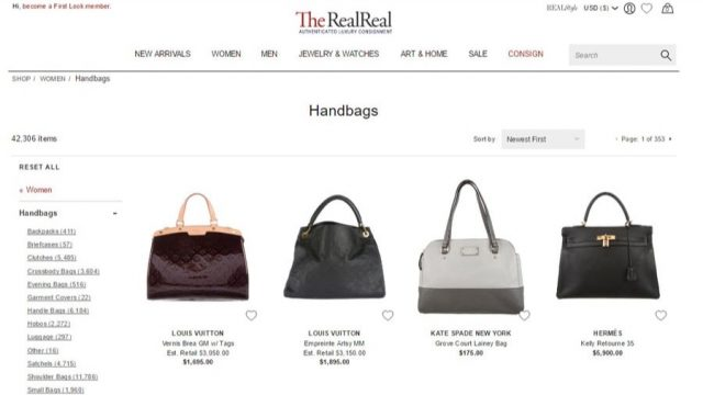 the real real discount authentic designer handbags