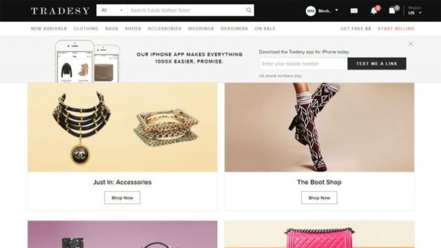 tradesy discount designer bags