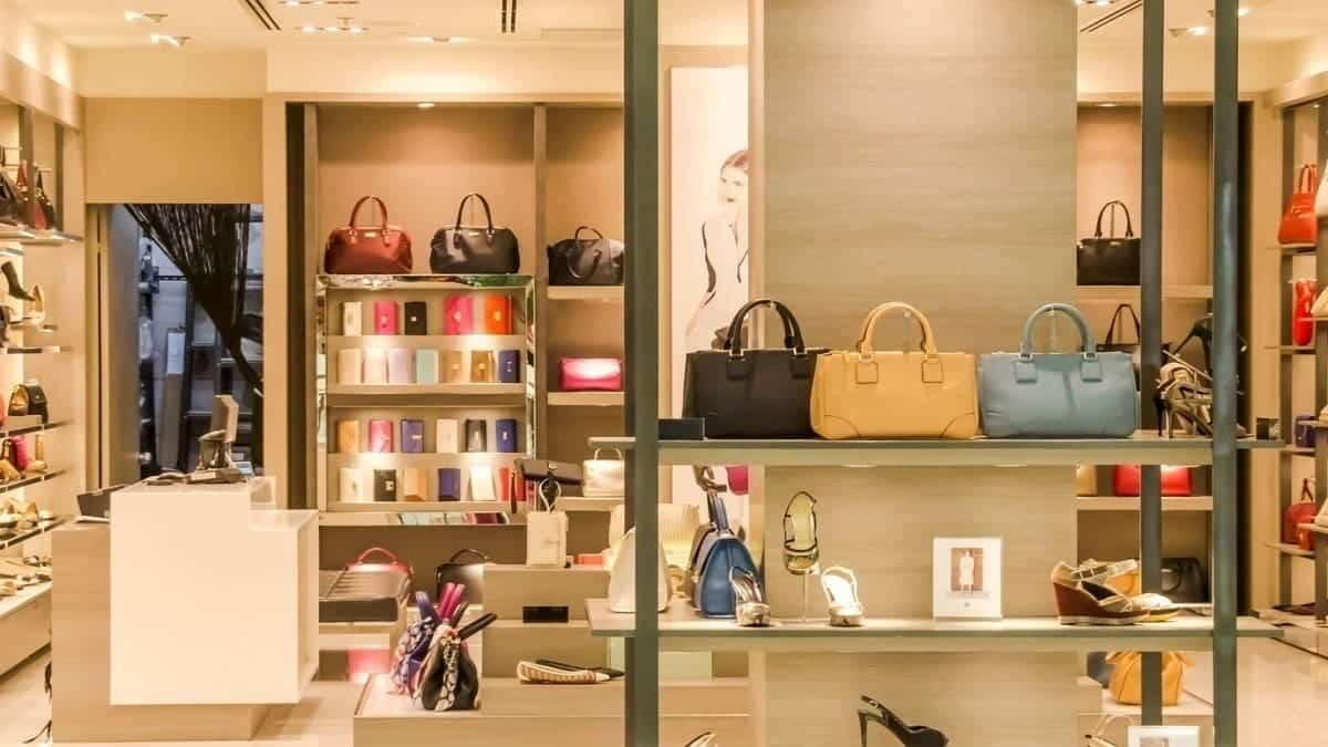 Luxury bags on display
