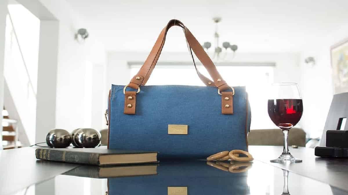 A Denim Designer Bag