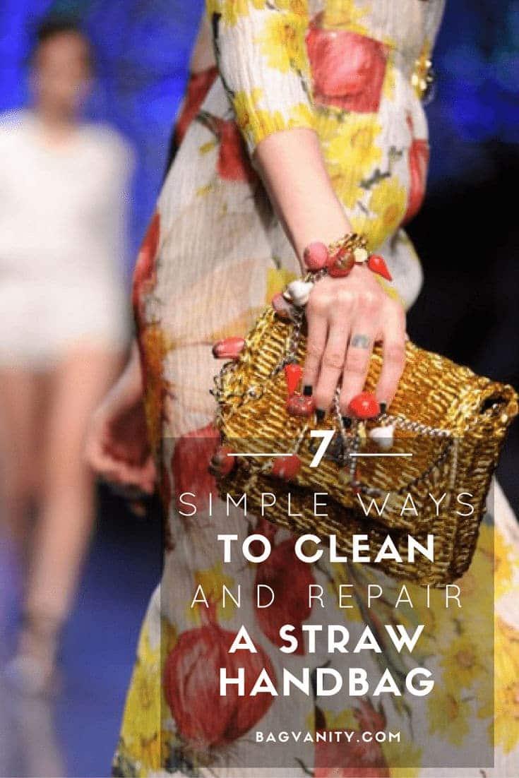 clean repair straw designer handbags