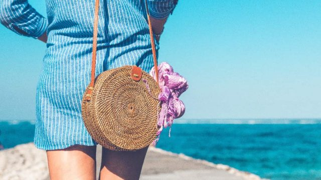 how to clean and repair a straw handbag