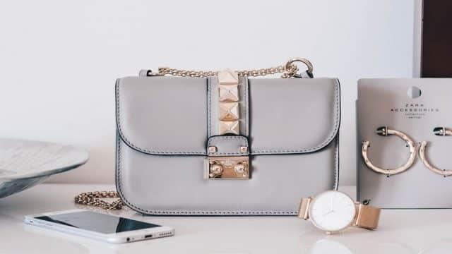 A designer purse